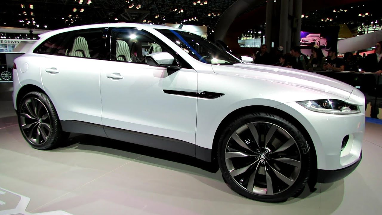 jaguar cx  suv exterior walkaround   york auto show youtube
