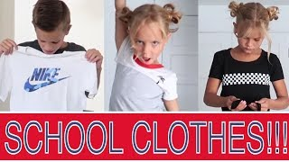 BACK TO SCHOOL KIDS CLOTHING HAUL | THE LEROYS