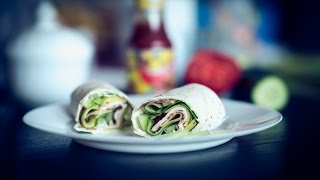 How to quickly make the best tortilla (sandwich) wrap