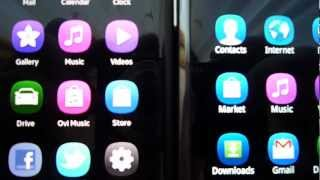 Nokia N9 vs Samsung Galaxy S Display comparison (HD)