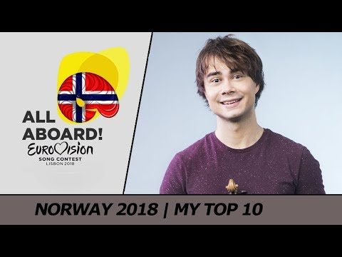 Eurovision 2018 NORWAY (Melodi Grand Prix) | My Top 10