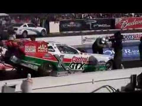 John Force and Ashley Race at Firebird 2008 Video