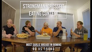 CROSSFIT VS STRONGMAN - EATING CONTEST!