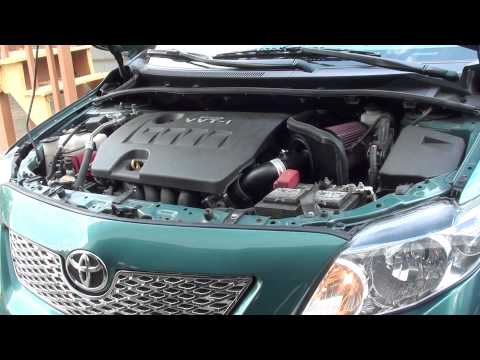 K&N cold air intake system first test 2010 toyota corolla 1.8l le