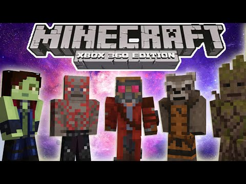 Minecraft Xbox 360 PS3 GUARDIANS OF THE GALAXY SKIN PACK SCREENSHOT