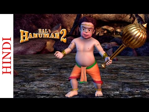 Bal Hanuman 2 - Bal Hanuman Defeats The Crocodiles - Popular Animated Action Scene