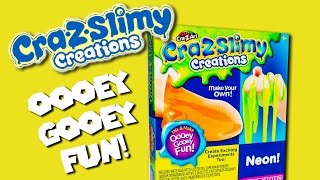 Cra-Z-Slimy Creations Slime Kit Neon & Glow | Cra-Z-Art REVIEW 2017