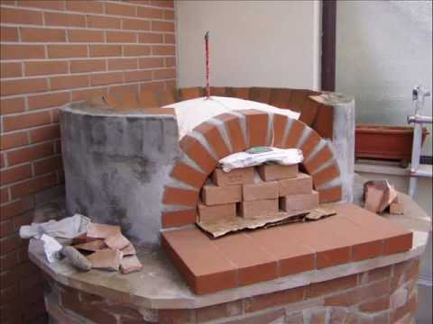 Peter how to build a wood fired pizza come costruire un for Forno a legna in mattoni refrattari