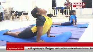 East Godavari Girls Bags Gold and Silver Medals in Yoga at Student Olympics