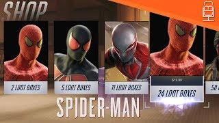 Loot Boxes & Microtransactions in Spider-Man PS4