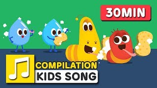 BRUSH AND WASH AND OTHER SONGS   30MIN   LARVA KIDS   SUPER BEST SONGS FOR KIDS