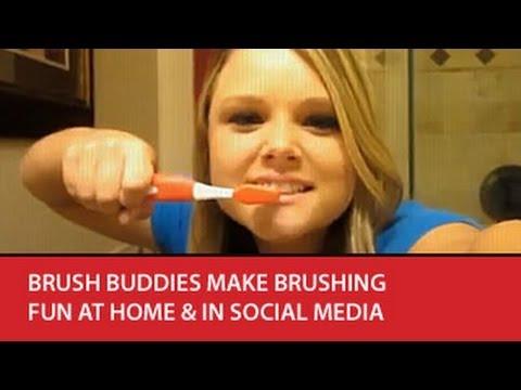 Brush Buddies make brushing fun at home & in Social Media