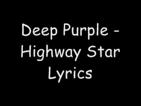 Deep Purple - Highway Star Lyrics Video