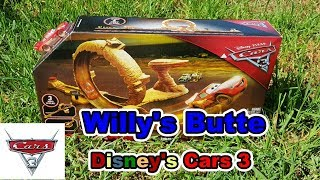 Disney Cars 3 – UNBOXING - WILLY'S BUTTE Transforming Track Set - Featuring LIGHTNING MCQUEEN