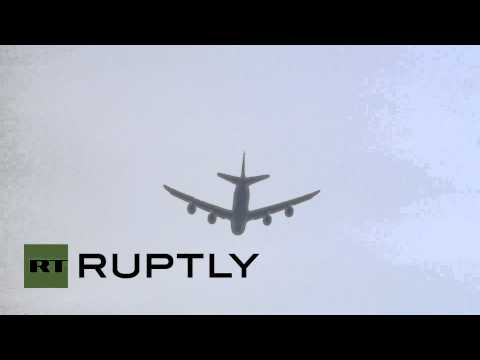 Germany: World Cup winners fly over Berlin Fan Mile