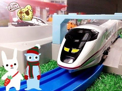 【xe lửa đồ chơi 】Plarail S09- E3 Akita Shinkansen Komachi chảy  00193 vn