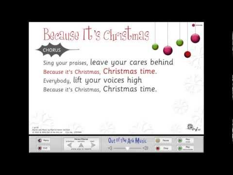 Because It's Christmas - Words on Screen™