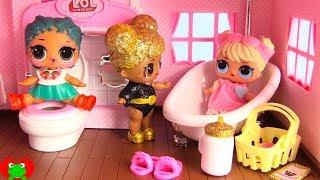 LOL Surprise Dolls New Bathroom In Dollhouse Toy Video