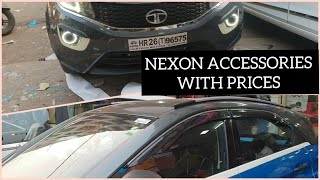TATA NEXON MODIFIED With PRICES| ROOF WRAPPING | PROJECTOR FOG LIGHT | SEAT COVER & MANY ACCESSORIES