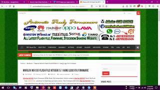 Marlax MX103 Flash File MT6580 5.1 Hang Logo Fix Firmware