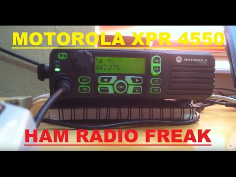 MOTOTRBO XPR 4550 Analog (test on the local 440mhz repeater)