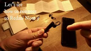 Xiaomi Mi Bluetooth Headset Basic, Unboxing and connect to Redmi Note 5