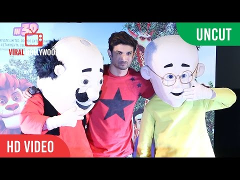 UNCUT -  Motu Patlu King Of Kings Animated Trailer Launch | Sushant Singh Rajput thumbnail