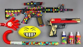 box of toys !! Many Colors toys Equipment Filter Candy Five Finger   Candy Toy Gun With candy Stick