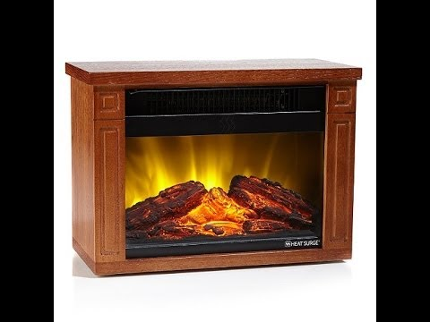 Heat Surge Mini Glo LED Fireplace