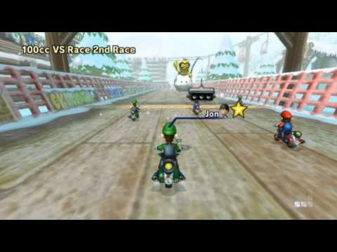 Mario Kart Wii - - Online Races 159: Mario Bros. Crazy Pizza Journey!