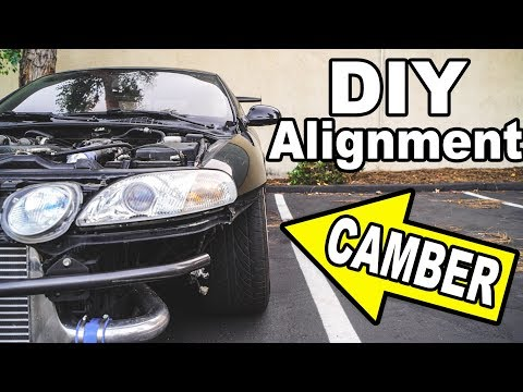 MAX CAMBER On My 1JZ Lexus (DIY Drift Alignment)