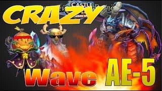Castle Clash, Битва Замков, Прохождение волны АЕ5, Crazy wave AE5