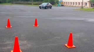 Back parking practice