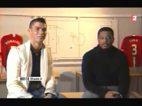 Interview Stade 2 Cristiano Ronaldo et Patrice Evra