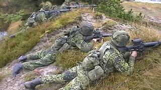 Manöver Dänische Armee Truppenübungsplatz Oksbol November 2002 Leopard 1 DK M113 G3 Army Teil 11