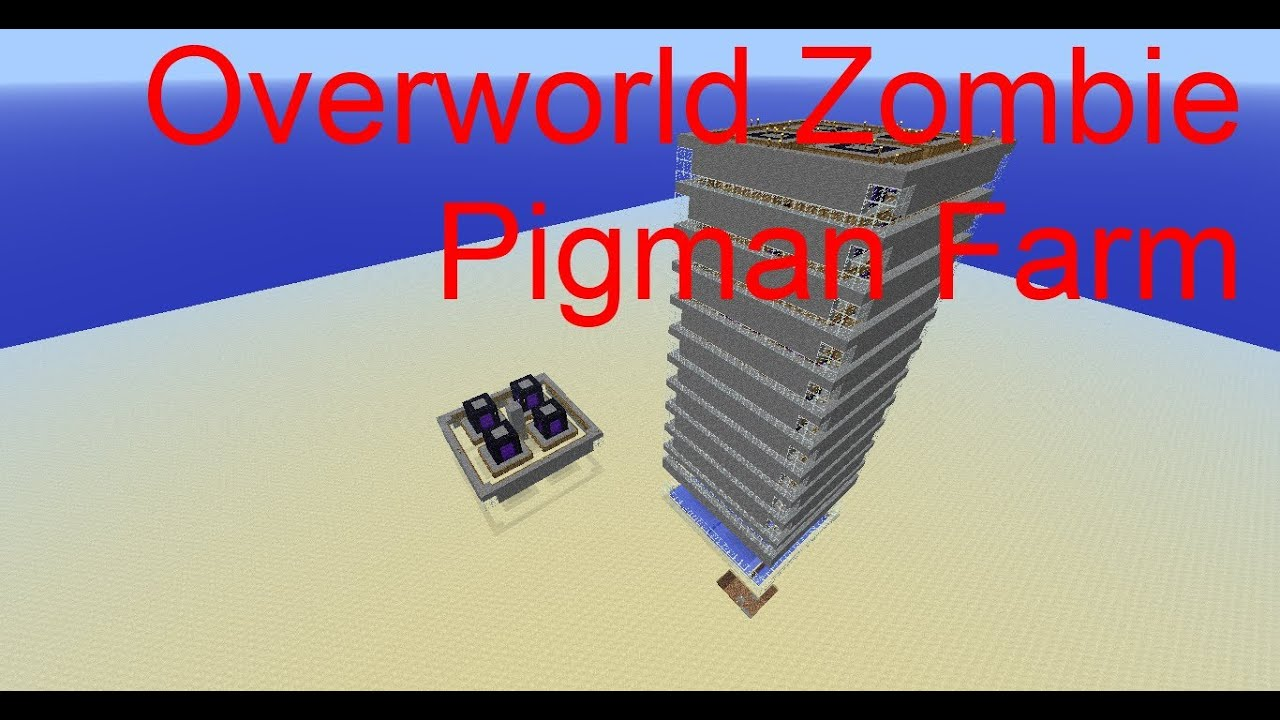 Pigman Farm Overworld Zombie Pigman Farm 1.3.1