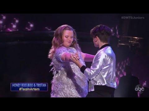 "Alana ""Honey Boo Boo"" Thompson & Tristan Ianiero - Dancing With The Stars Juniors Episode 2"