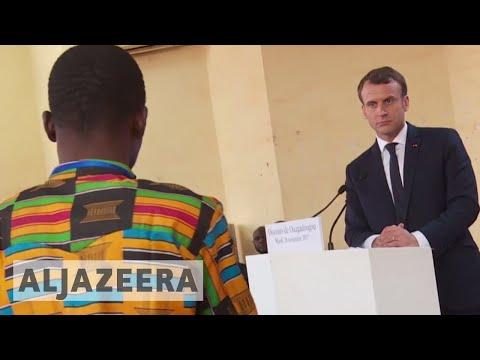 France's Macron addresses students in Burkina Faso