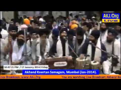Bhai Jagpal singh ji UK - Akj mumbai samagam 2014, friday evening