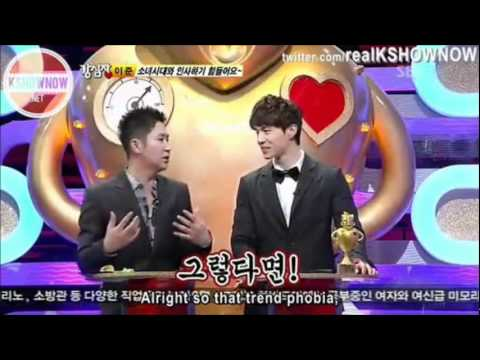 Strong Heart Ep 127 - Snsd's Tiffany And Mblaq's Lee Joon Intractions [eng Cut].wmv video