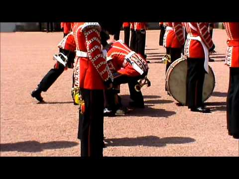 Royal Guard faints at the Buckingham Palace London !