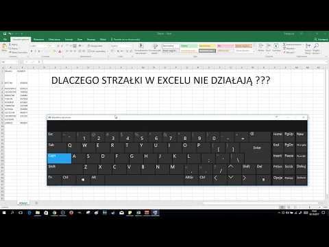 EXCEL - Strzałki Nie Działają Scroll Lock Włączony Na Klawiaturze | ForumWiedzy.pl