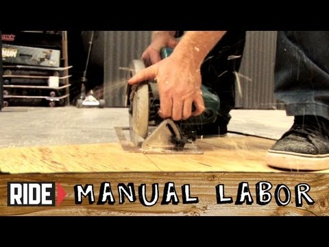 How-to Build a Skatepark - Bank Ramps Part 1: Templates & Sheeting - Manual Labor