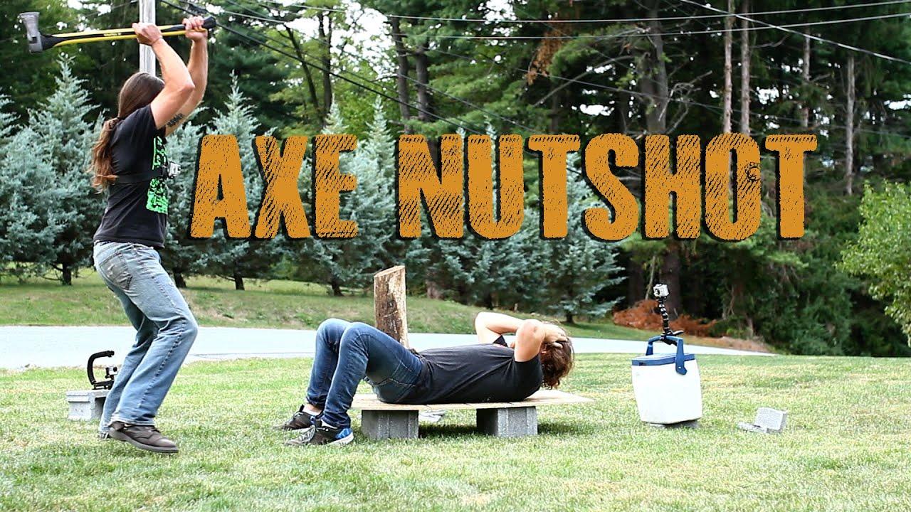 Wood Splitting Axe Nutshot!