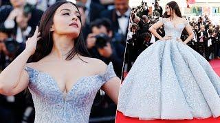 Aishwarya Rai Bachchan Cannes 2017 RED CARPET Cinderalla look