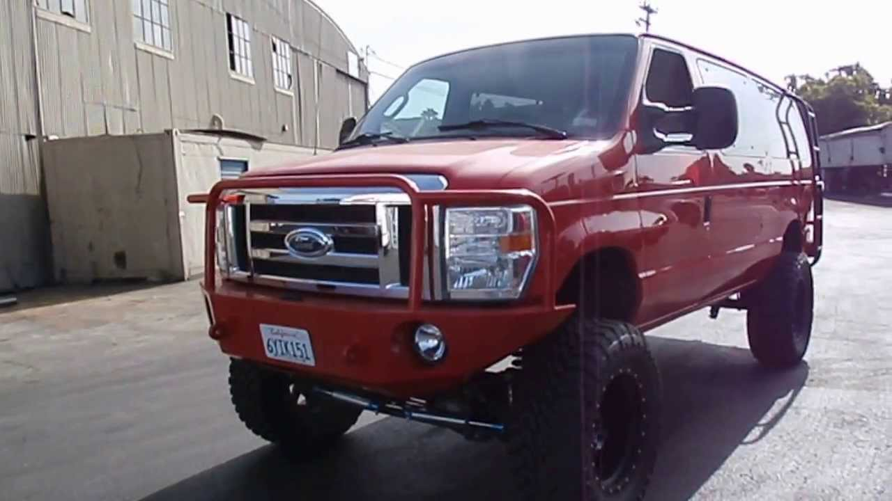 """2006 FORD E350 DIESEL VAN 4X4""""WITH 2012 FRONT END AWSOME"""