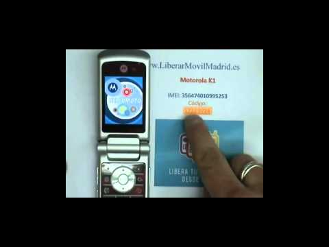 Liberar por IMEI Motorola K1 Movistar. Vodafone. Orange. Yoigo