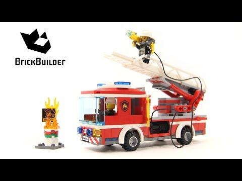 Lego City 60107 Fire Ladder Truck - Lego Speed Build