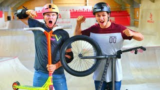 PRO SCOOTER VS PRO BMX! *ULTIMATE BATTLE*