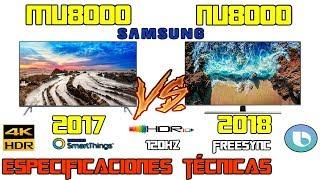 MU8000 Vs NU8000 Cuál es mejor tv Samsung 4k HDR 120Hz ? freesync Especificaciones técnicas MU NU